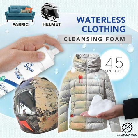 Waterless Clothing Cleansing Foam Clean anything that you can't just throw into washing machine ⛑🛋 Say goodbye to stain & odor by a gentle wipe