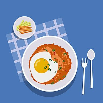 Nasi Goreng Indonesian Food Illustration Food Clipart Nasi Goreng Png And Vector With Transparent Background For Free Download Food Illustrations Food Cartoon Cute Food Art