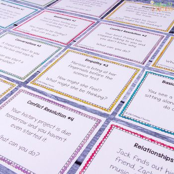 Social Skills Task Cards For Middle And High By Pathway 2 Success Teachers Pa Social Skills Social Emotional Learning Middle School Teaching Social Skills