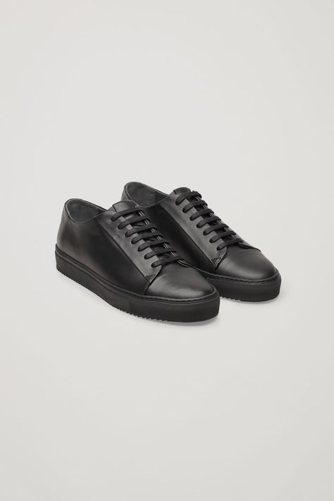 COS | Thick-soled leather sneakers