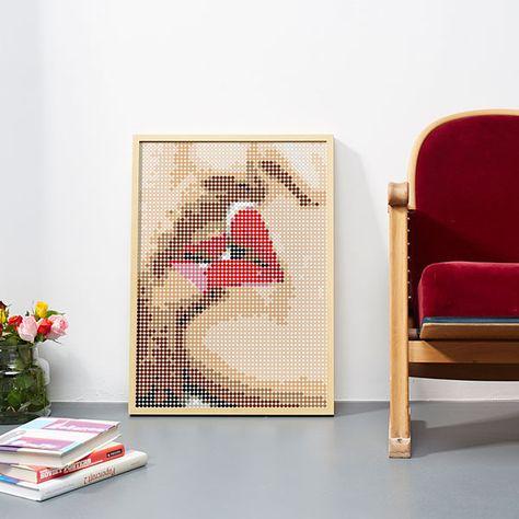 #doton #art #deineliebeklebt #kiss ...Das muss Liebe sein, wenn Sie dir aus 3381 #dots eine #Liebeserklärung klebt  #klebepunkte #doton #dots #art #diy #madeingermany #design
