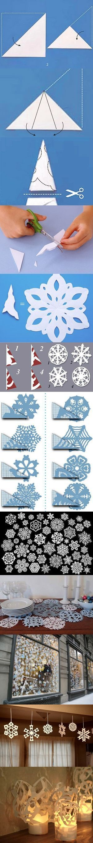 how to make paper snowflakes recipies to try pinterest