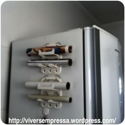 Organizando Rolos De Papel Aluminio Papel Manteiga Etc Com