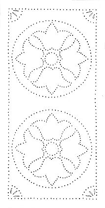 Punched Tin Pattern Could Be Used For All Sorts Of Crafts Not Just Punching Tins Patrones Manualidades Sashiko