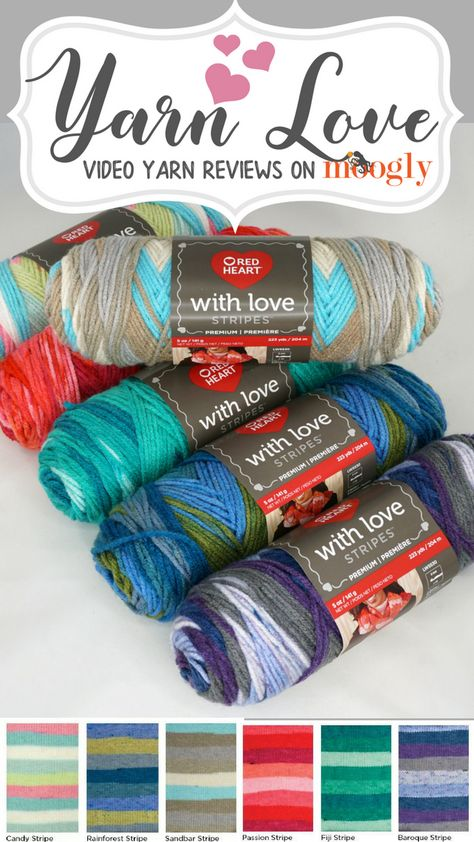 Red Heart With Love Yarn-passion Stripe