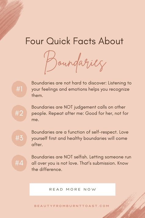 Self. Four Quick Facts About Boundaries