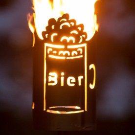 Gartenfackel Biergarten Brennt Mit Gewachsten Toilettenpapier Jmfeuer Gartenfackel Biergarten Feuerfass