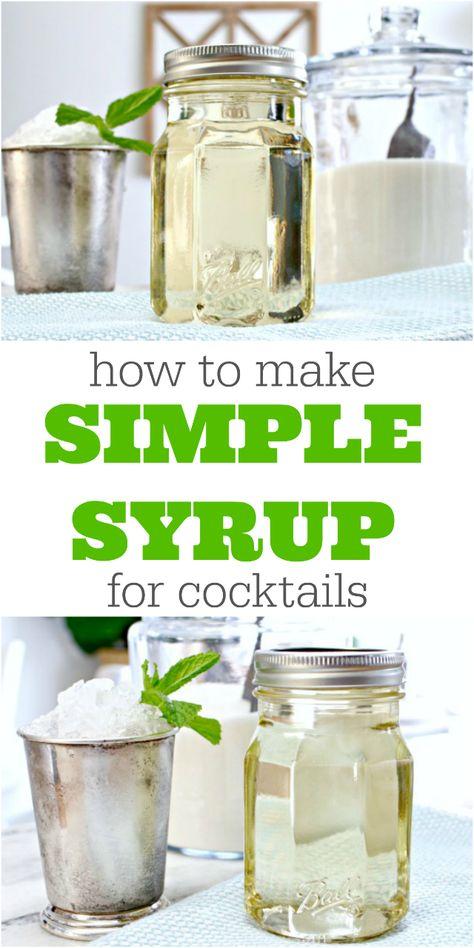 mint simple syrup uses - mint simple syrup ` mint simple syrup recipe ` mint simple syrup cocktails ` mint simple syrup mojito ` mint simple syrup uses Simple Syrup Recipe Drinks, Simple Syrup For Cakes, Make Simple Syrup, Make It Simple, Mint Syrup Recipe, Simple Syrup For Cocktails, Simple Cocktail Recipes, Simple Syrup Margarita Recipe, How To Make Cocktails