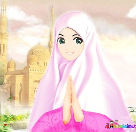 Gambar Kartun Wanita Muslimah Cantik Newhairstylesformen2014 Com