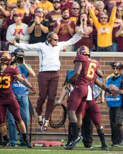 New Gophers Coach Pj Fleck Jumping
