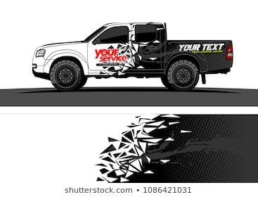 Car Wrap Vector Designs Abstract Racing Shape With Grunge
