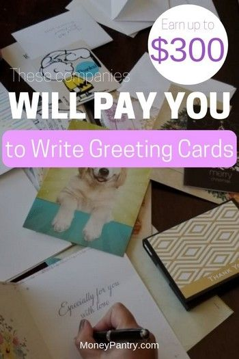 21 Companies That Will Pay You To Write Greeting Cards Hallmark Isn T The Only Company Moneypantry Greeting Card Companies Greeting Cards Make Money Writing