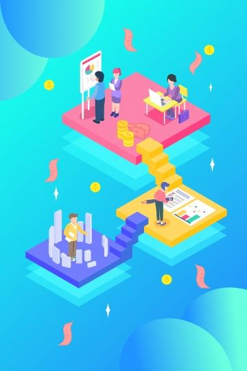 Cartoon 2 5d Isometric Business, Office, Financial, Concept Illustration Image on Pngtree, Free Download on Pngtree