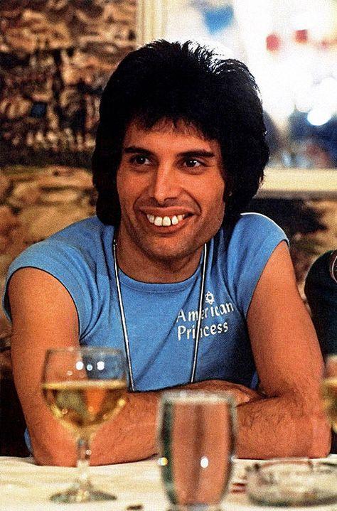 Very young Freddie Mercury -- LOVE that full smile!