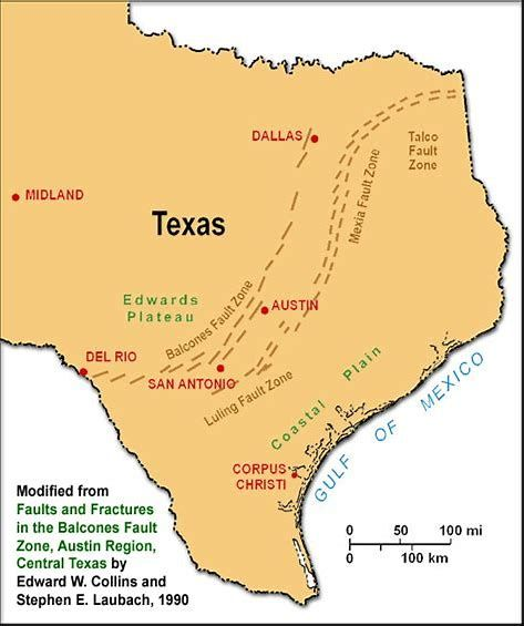 Texas Fault Lines Map Image result for Texas Faultlines Map | Texas map, Texas travel
