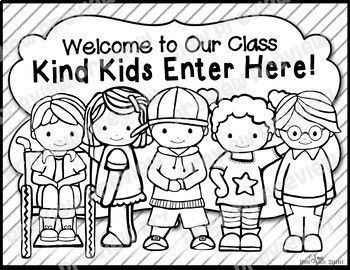 Kind Kids Poster And Coloring Page Kids Poster Coloring Pages