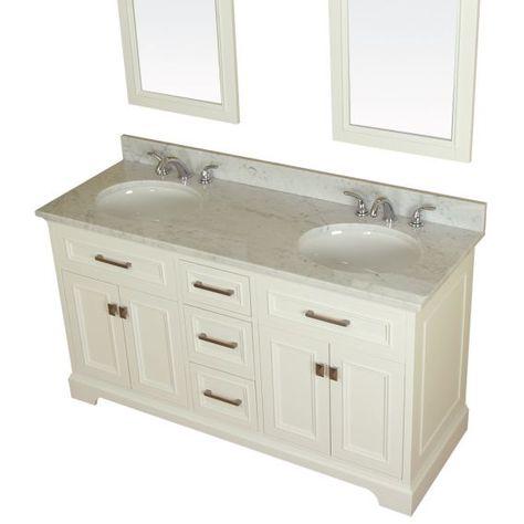 Alya Bath Yorkshire 61 In Double Bathroom Vanity White With
