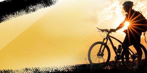 Atmosphere Silhouette Mountain Bike Poster Background Bike