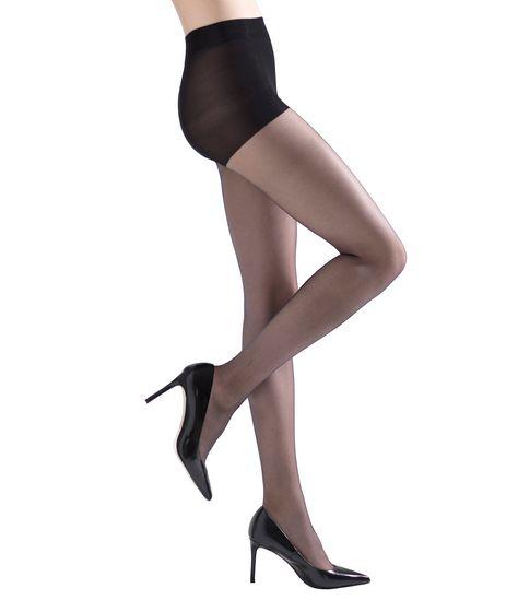 Natori Soft Suede Ultra Sheer Pantyhose - Black XL