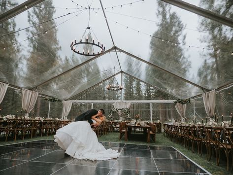 This stunning forest wedding takes place at a dream mountain venue We're swooning for this moody-toned Fall forest wedding at our dream venue in the Sierra Nevada mountains – Chalet View Lodge – We The Wild Productions – Hayley Paige – Jenn Robirds Events Wedding Places, Wedding Locations, Wedding Goals, Destination Wedding, Wedding Ideas, Fall Wedding Destinations, Wedding Planning, Diy Wedding, Rustic Wedding