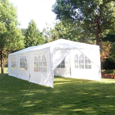 Zimtown 10 X 30 Party Tent Wedding Canopy Gazebo Pavilion W 8 Side Walls Walmart Com Gazebo Canopy Canopy Outdoor Canopy Tent