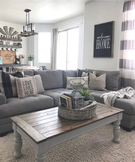 48 Cozy Rustic Living Room Design And Decorating Cozylivingroomfurniture Modern Farmhouse Living Room Decor Farmhouse Decor Living Room Farm House Living Room