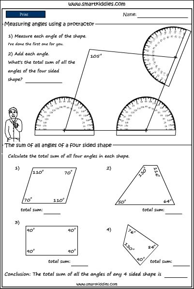 Using A Protractor To Measure Angles In Shapes Click To Download Measurement Worksheets 2nd Grade Math Worksheets Teaching Life Skills 4th grade math worksheets angles