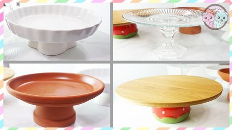 DIY CAKE CUPCAKE STAND, HOW TO MAKE CAKE STANDS UNDER $3!