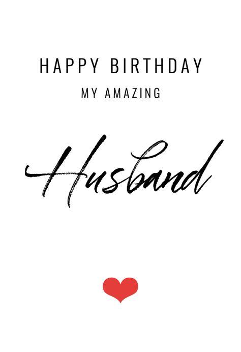 My amazing Husband - Birthday Card #greetingcards #printable #diy #birthday