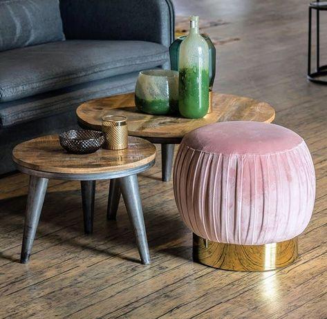 Mutig Kombinieren Zum Beispiel Rosa Gold Mit Braun Grau Ein Paar Tupfer Grun Auf Den Beistelltisch Gerne Diewascherei Home Decor Decor Side Table
