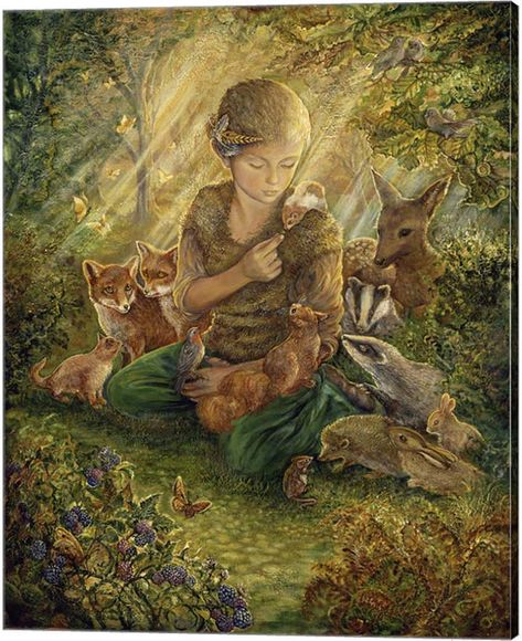 Metaverse Forest Friends By Josephine Wall Canvas Art