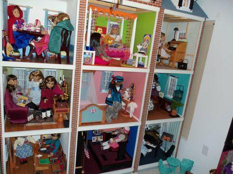 Custom American Girl doll townhouse