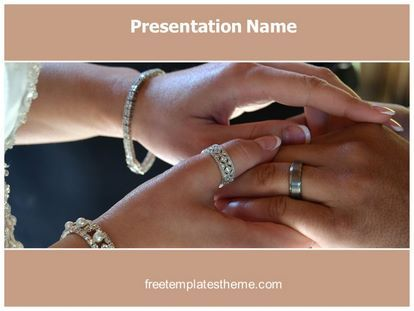 Get this #Free #Rings #Vows #PowerPoint #Template with different - wedding powerpoint template