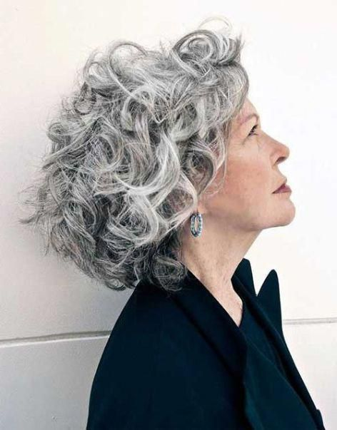 Edgy Curly Hairstyle 2019 Curlyhairstylestrends In 2020 Grey Curly Hair Curly Hair Styles Naturally Curly Hair Styles