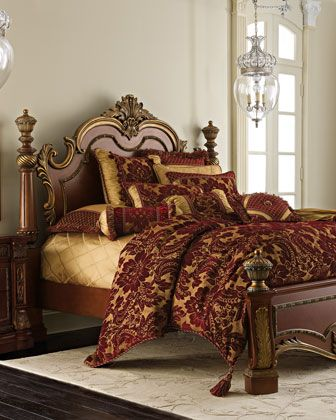 Royalty  Bedroom Furniture at Neiman Marcus    For the Home   Pinterest    Bedrooms and Tuscan design. I love big  snuggly beds    Royalty  Bedroom Furniture at Neiman