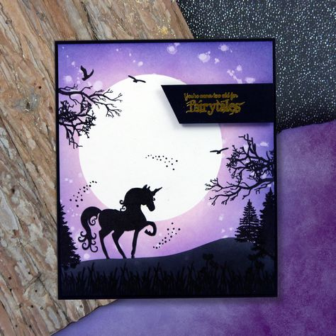 HANDMADE PAGAN FANTASY CHRISTMAS CARD WITH UNICORN HORSE CAN BE PERSONALISED