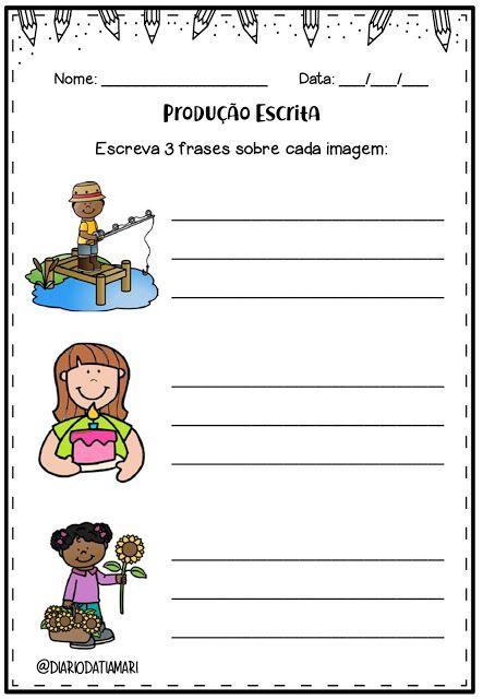 Atividade Producao Escrita Com Imagens Atividades De Ensino