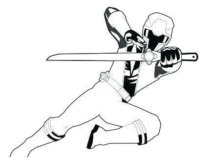 Coloriage Power Rangers Ninja Steel