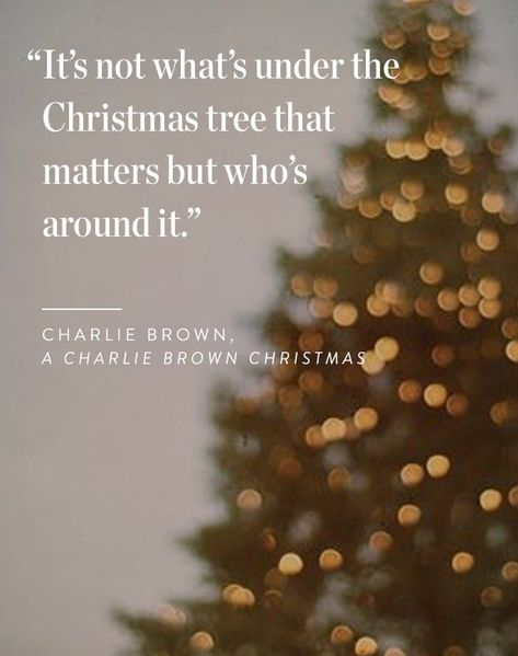 Charlie Brown Christmas Quote It S Not What S Under The Christmas Tree That Matters But Who S A Holiday Quotes Christmas Merry Christmas Quotes Holiday Quotes