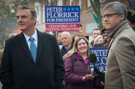 Chris Noth as Peter Florrick, Mo Rocca as Ted Willoughby.