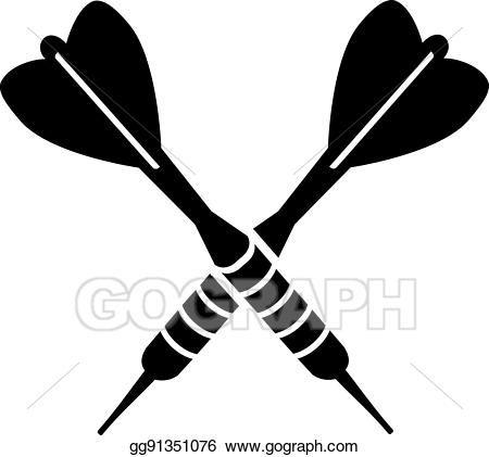Eps Illustration Darts Dart Arrows Crossed Vector Clipart Gg91351076 Gograph Arrow Art Arrow Drawing Dart