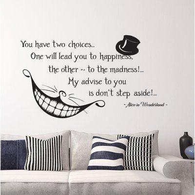 Decal House Alice Quote Wall Decal Color: