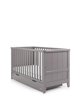 Obaby Belton Cot Bed Taupe Grey Nursery Furniture Sets Cot