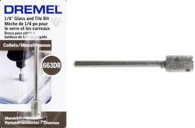 Dremel 663dr 1 4 Inch Glass Tile Drill Bit Drill Bits Dremel Glass Tile