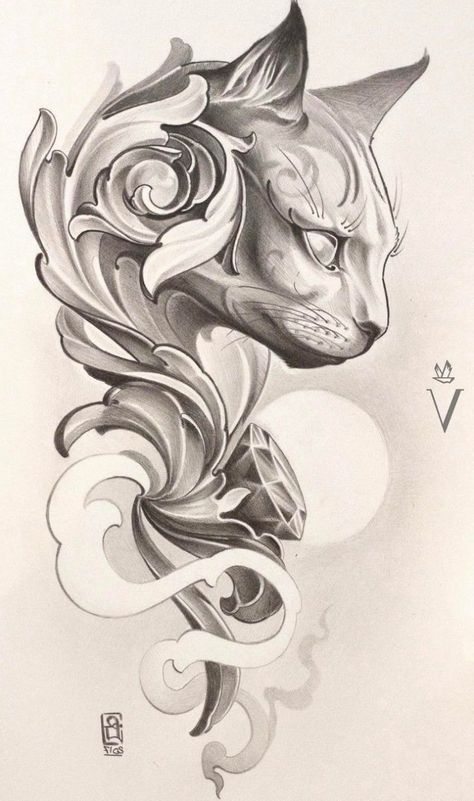Tattoo sketches 515732594830977036 - large cat head drawing, tattoo designs for women, black and white drawing, white background Source by maxjesus Cat Tattoo Designs, Tattoo Design Drawings, Tattoo Sketches, Tattoo Under Chest, Back Tattoo, Tatoo Art, Diy Tattoo, Tattoo Chat, Tatuagem Diy