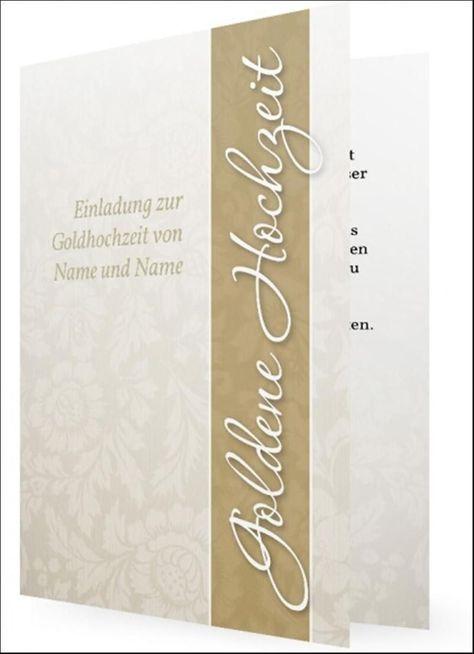 Goldene Hochzeit Einladungstexte Kostenlos Goldene Hochzeit
