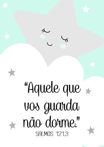 Poster Estrelinha Nuvens Salmos | Touts