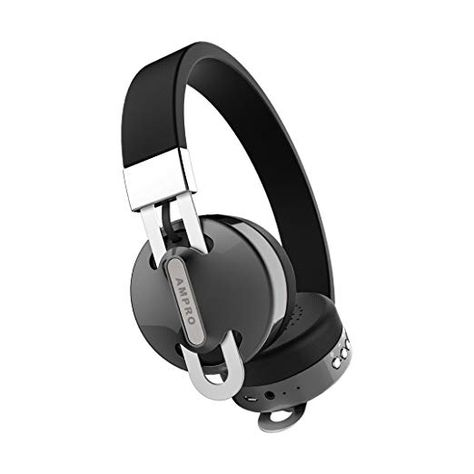 On-Ear Headphones By AMPRO  Wired And Wireless Bluetooth Headphones With  Built-In Microphone – Rechargeable Over-Ear Headphones With Adjustable  Headband And ... 907fe5de2fff