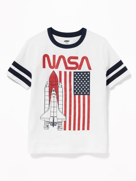 NASA® Americana Sleeve-Stripe Tee for Boys   Old Navy