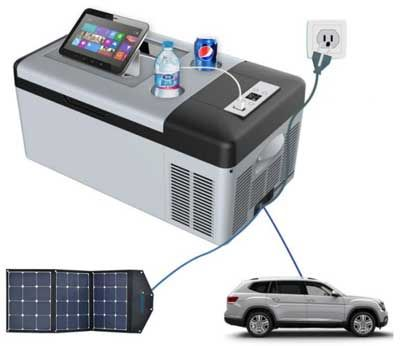 What I Think About The Acopower High Effiency Portable Compressor Fridge Freezer 3 Ways To Power It Portable Compressor Portable Mini Fridge Portable Fridge